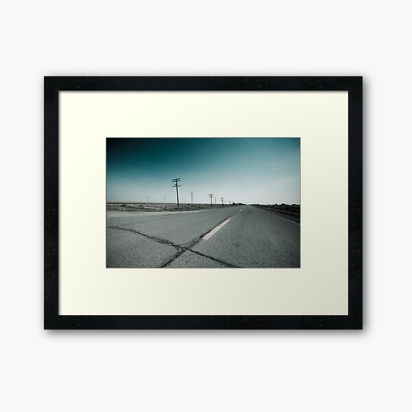 Route 66 near Dwight. Illinois  Framed Art Print