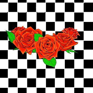Checkered rose by RashawnKing