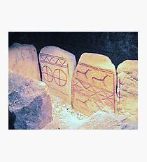 Bronze Age Glyphs III Photographic Print