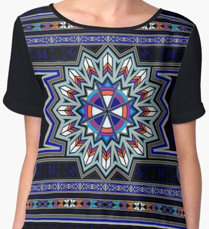 Butterfly Nation Women's Chiffon Top