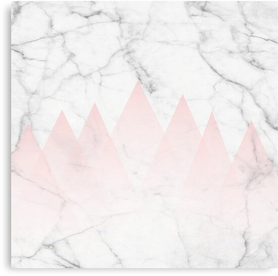 white marble background. White Marble Background Pink Abstract Triangle Mountains by 5mmpaper  Canvas