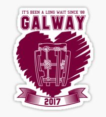 All Ireland Hurling Champions: Galway (White/Maroon) Sticker