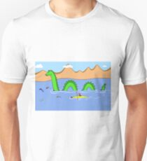 Captain Kayak and Loch Ness Monster T-Shirt