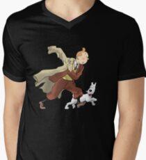 Tintin Men's V-Neck T-Shirt
