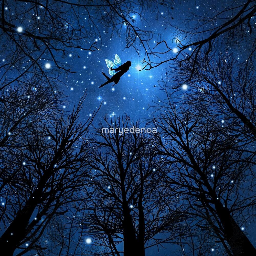 Magic Of The Night -The Blue Fairy by maryedenoa