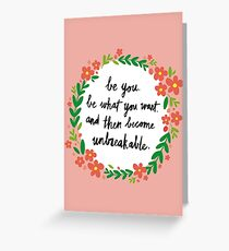 Unbreakable Greeting Card