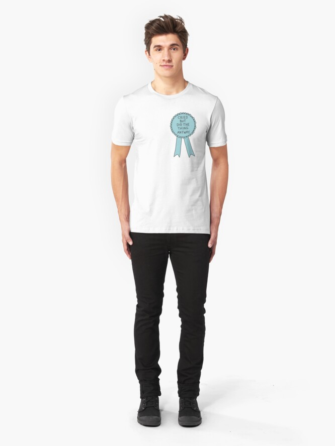 Alternate view of Did The Thing Anyway Slim Fit T-Shirt