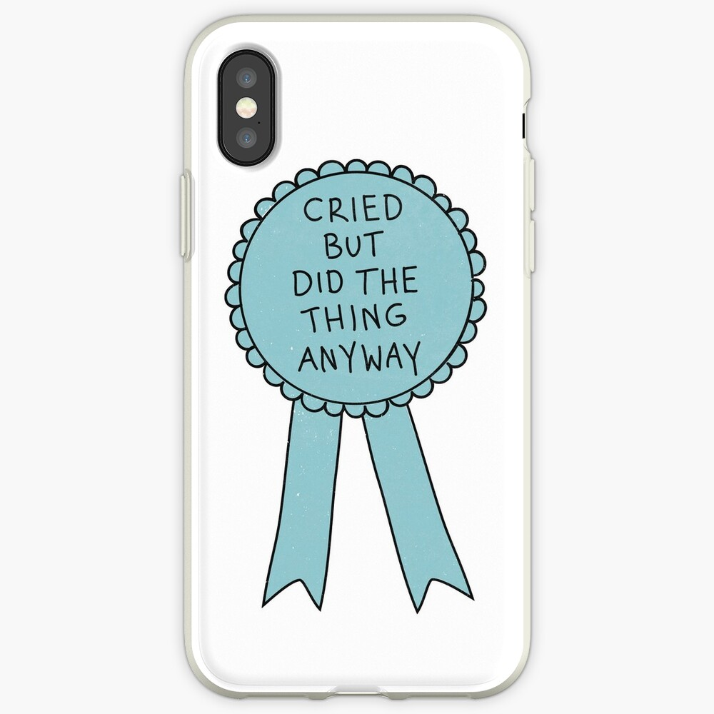 Did The Thing Anyway iPhone Case & Cover