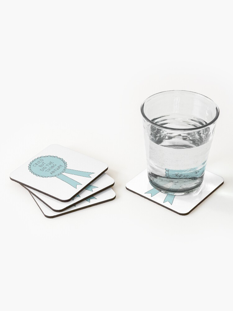 Alternate view of Did The Thing Anyway Coasters (Set of 4)