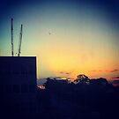 Urban Sunset Over Heidelberg by Elaine Stevenson