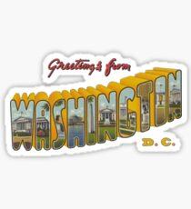 Greetings from Washington DC 1 Sticker
