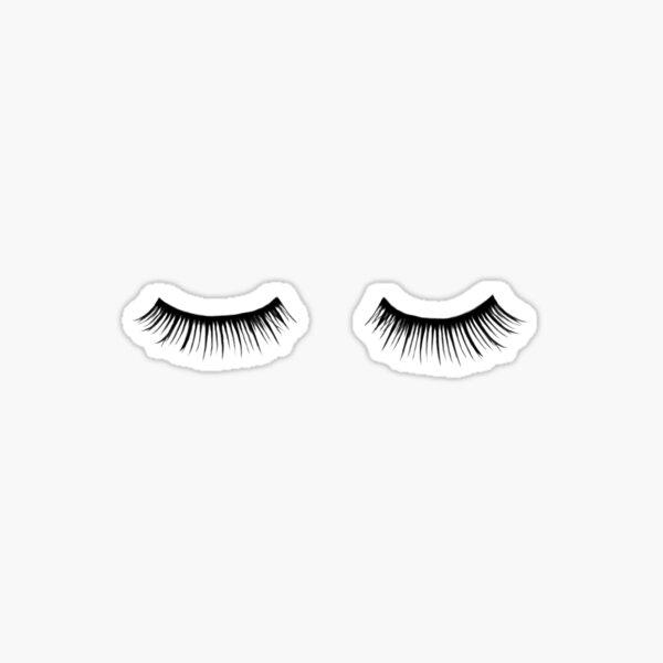 Eyelash, Eyelashes, Fashion, Vogue, Beauty, Makeup, Stylish, Black, White Sticker