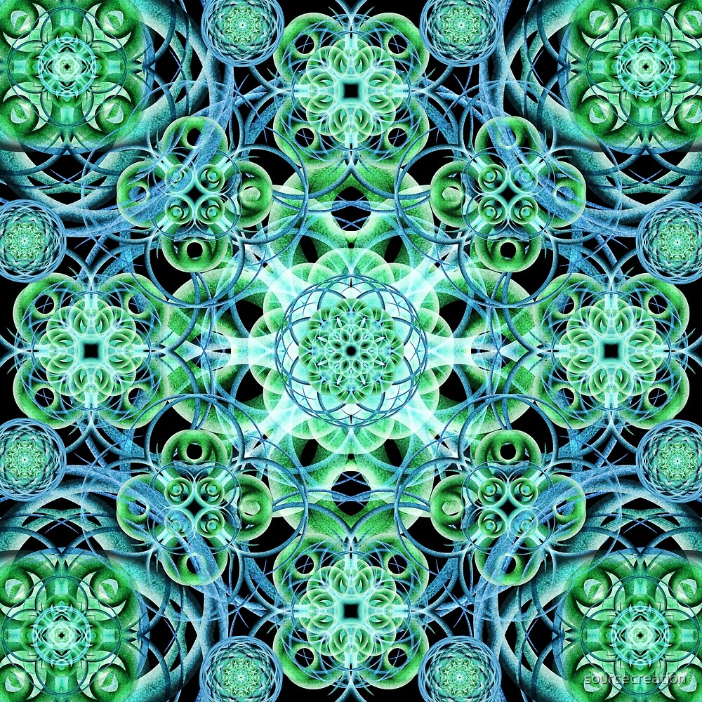 Ethereal Growth Mandala by sourcecreation