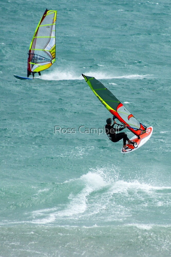 Windsurfing, Cottesloe Beach, Perth by Ross Campbell