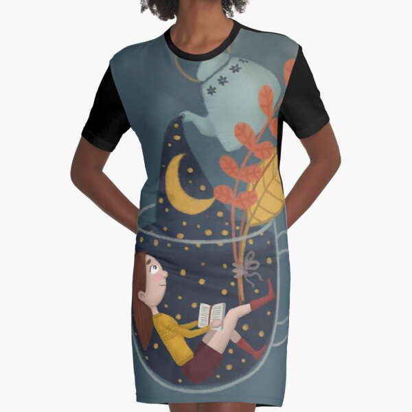 A cup of star sky  Graphic T-Shirt Dress