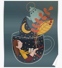 Eine Tasse Sternenhimmel Poster