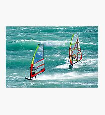 Windsurfing, Cottesloe Beach, Perth Photographic Print