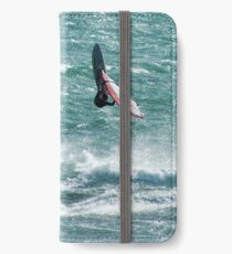 Windsurfing, Cottesloe Beach, Perth iPhone Wallet/Case/Skin