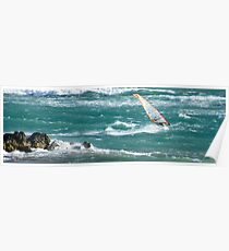 Windsurfing, Cottesloe Beach, Perth Poster