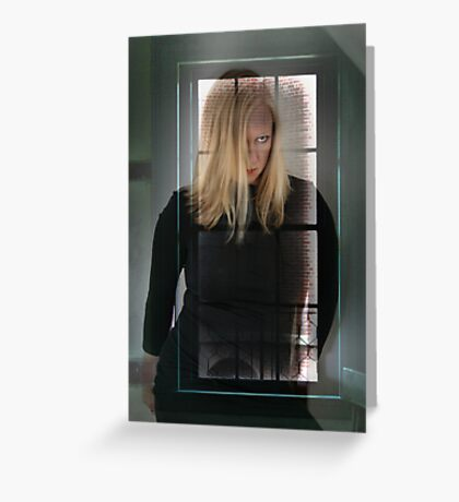 Lady in the Window Greeting Card