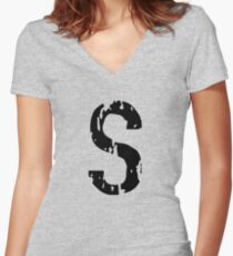 S Women's Fitted V-Neck T-Shirt