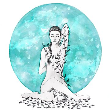 'Our Moment',Yoga Illustration by raquelcasilda