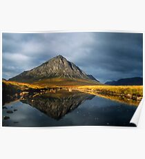 Buachaille Etive Mor, Glen Coe, Highlands of Scotland. Poster