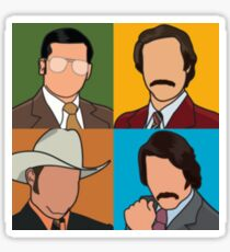 Anchorman - Ron/Brian/Champ/Brick Pop Art Sticker