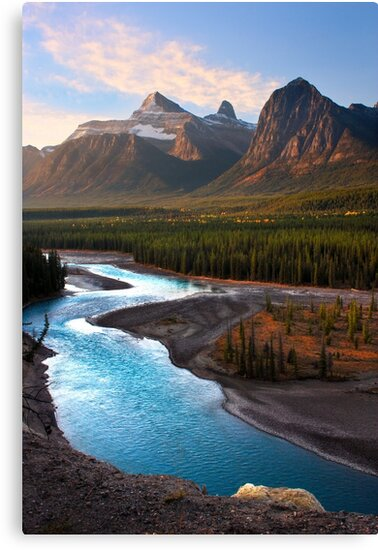 Athabasca River, the Icefields Parkway. Alberta, Canada. by PhotosEcosse