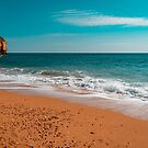 Ocean Beach in Teal and Orange by Georgia Mizuleva
