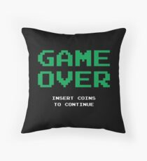 Game Over T-Shirt Throw Pillow