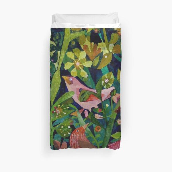 Three pink birds Duvet Cover