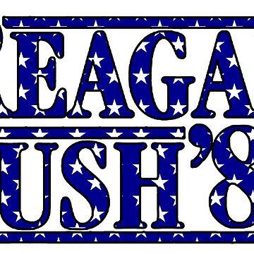 Reagan Bush '84 Estrellas de andrewcb15