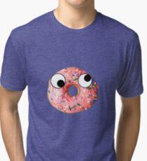 Doughnut With Eyes Tri-blend T-Shirt