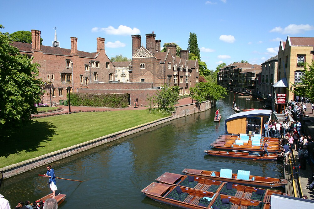 Punting In Cambridge by Brad Myers