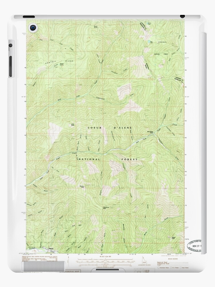 USGS TOPO Map Idaho ID Murray 237352 1985 24000 by wetdryvac