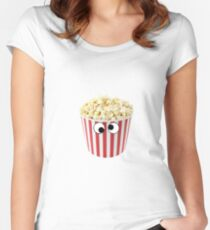 Popcorn With Eyes Women's Fitted Scoop T-Shirt