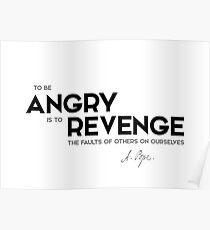 angry, revenge - alexander pope Poster