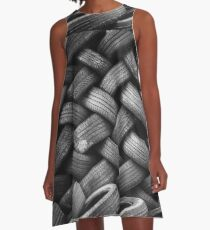 Tower of Tiered Tire Treads A-Line Dress