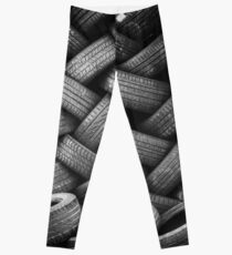 Tower of Tiered Tire Treads Leggings