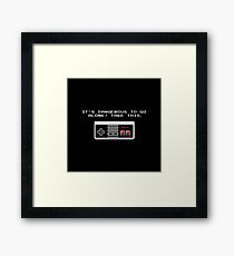 Its dangerous to go alone take this video game Framed Print