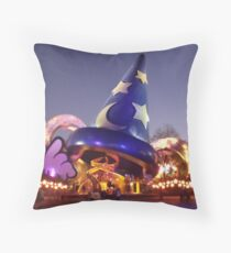Sorcerers Hat - Hollywood Studios Throw Pillow