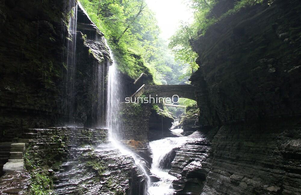 Watkins Glen Waterfall by sunshine0