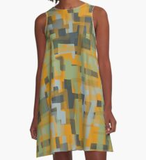 Puzzle 1 Geometric Graphic Abstraction A-Line Dress