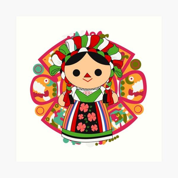 Maria 5 (Mexican Doll) Art Print