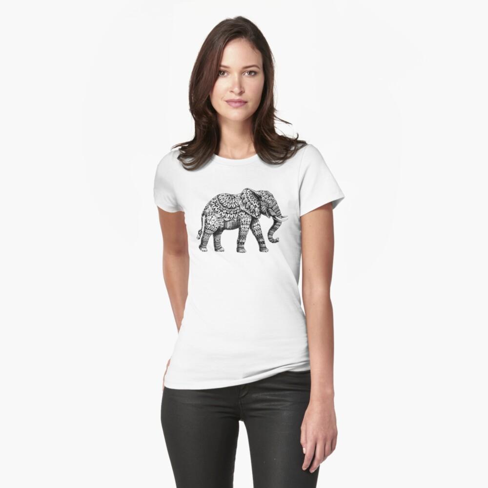 Verzierter Elefant 3.0 Tailliertes T-Shirt