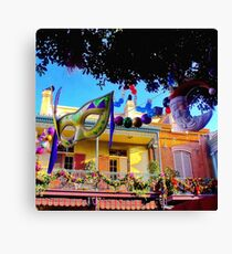 Mardi Gras in New Orleans Square Canvas Print