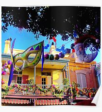 Mardi Gras in New Orleans Square Poster