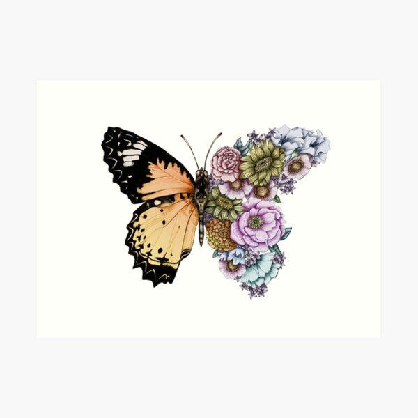 Butterfly in Bloom II Art Print