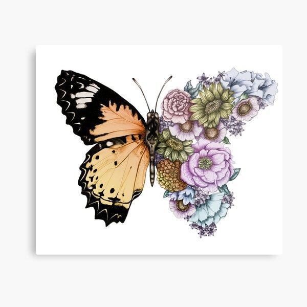 Butterfly in Bloom II Metal Print